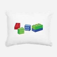 Building Blocks Rectangular Canvas Pillow