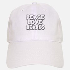 Peace Love Beards for White Baseball Baseball Baseball Cap