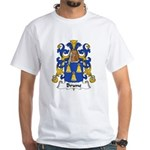 Brune Family Crest White T-Shirt