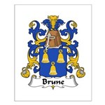 Brune Family Crest Small Poster