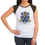 Brune Family Crest Women's Cap Sleeve T-Shirt
