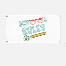 School Rules Banner