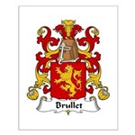 Brullet Family Crest Small Poster