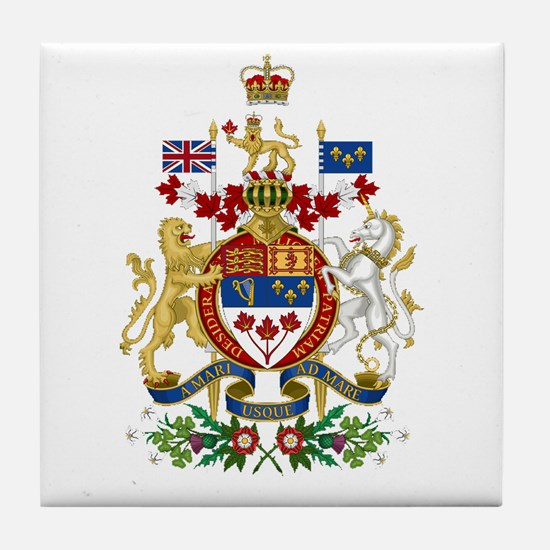 Canada's Coat of Arms Tile Coaster