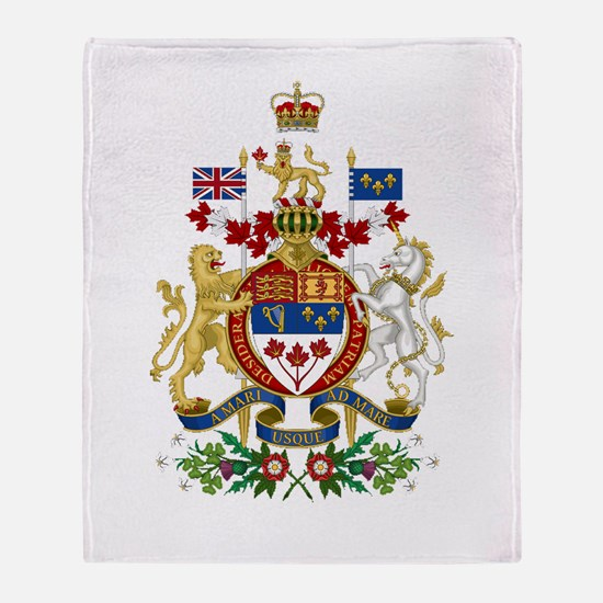 Canada's Coat of Arms Throw Blanket