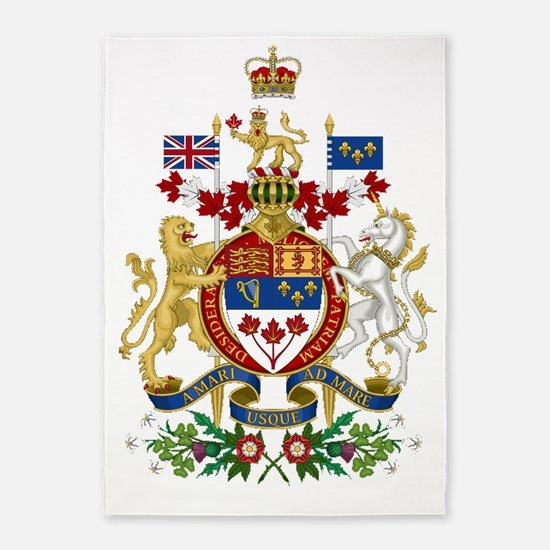 Canada's Coat of Arms 5'x7'Area Rug