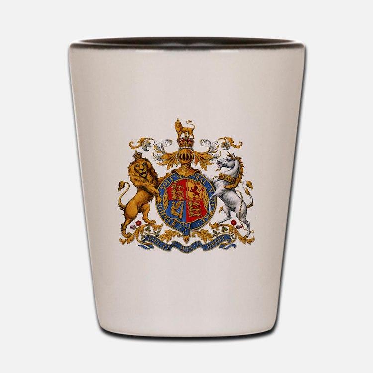 British Royal Coat of Arms Shot Glass