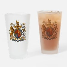 British Royal Coat of Arms Drinking Glass