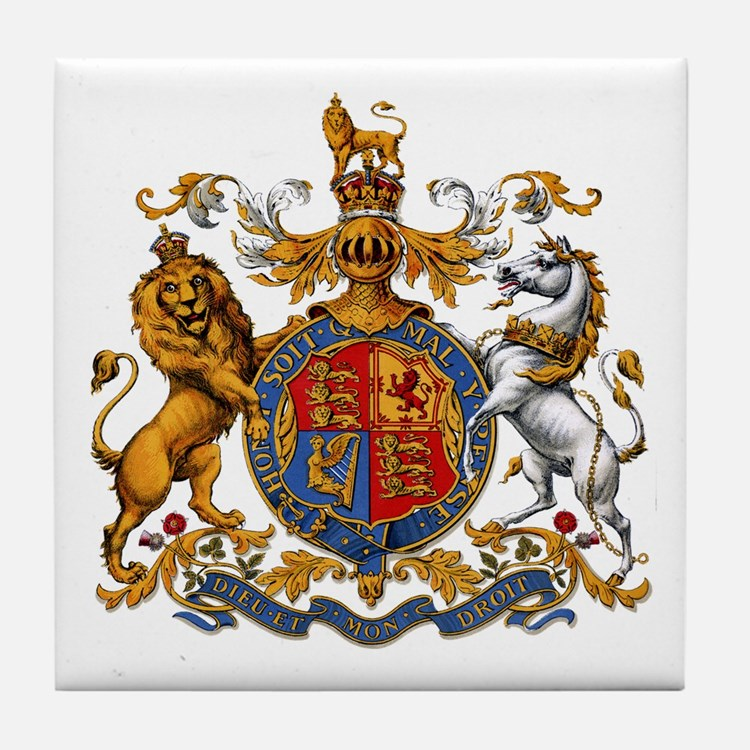 British Royal Coat of Arms Tile Coaster