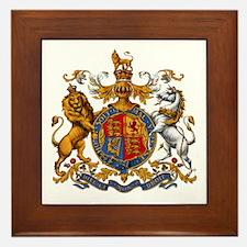 British Royal Coat of Arms Framed Tile