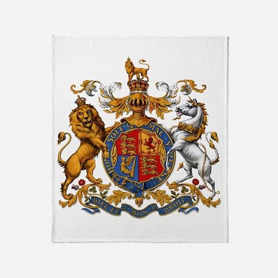 British Royal Coat of Arms Throw Blanket
