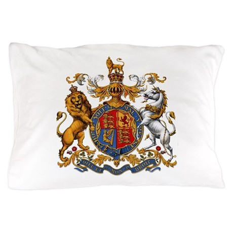 British Royal Coat Of Arms Pillow Case By BirdsandFlowers