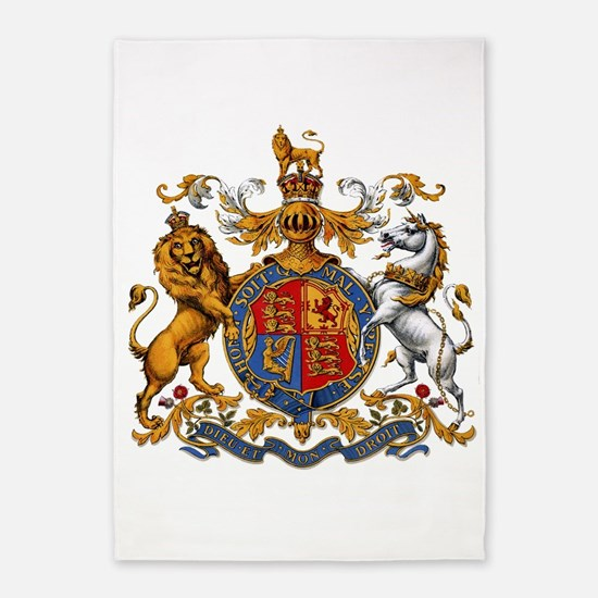 British Royal Coat of Arms 5'x7'Area Rug