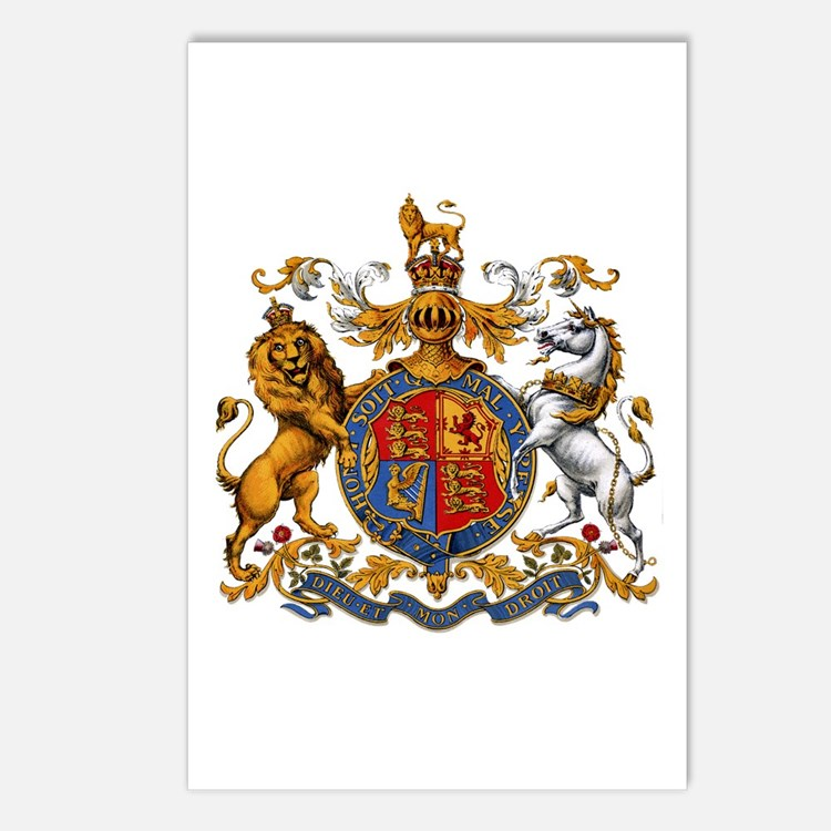 British Royal Coat of Arm Postcards (Package of 8)