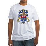 Brulle Family Crest  Fitted T-Shirt