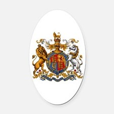 British Royal Coat of Arms Oval Car Magnet