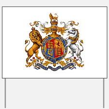 British Royal Coat of Arms Yard Sign