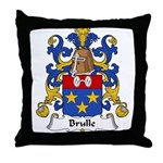 Brulle Family Crest  Throw Pillow