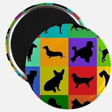 Dog Pattern Magnets