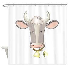 Cow Head Shower Curtain