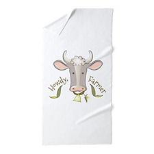 Howdy Farmer Beach Towel