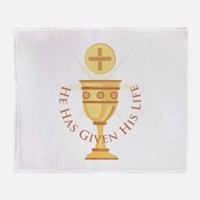 Given His Life Throw Blanket