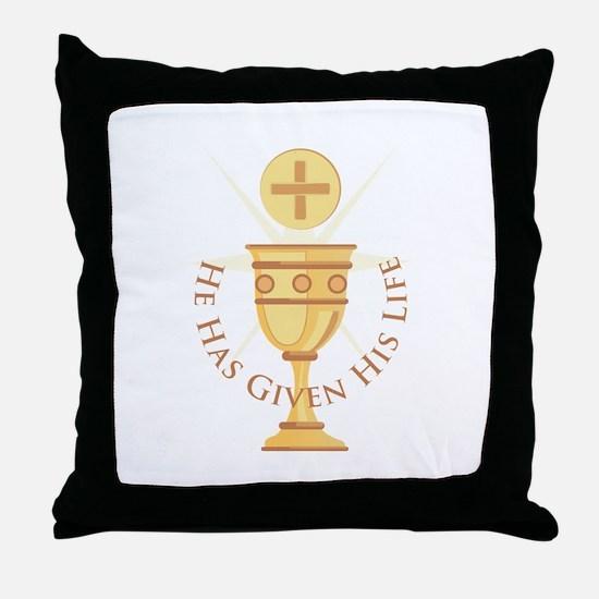 Given His Life Throw Pillow