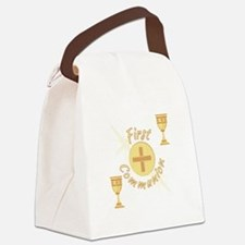 First Communion Canvas Lunch Bag