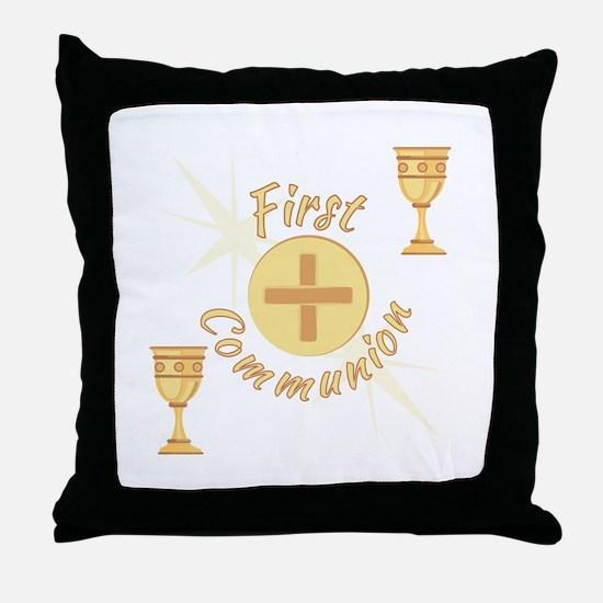 First Communion Throw Pillow