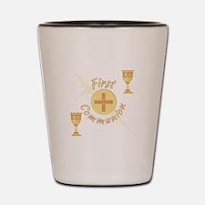 First Communion Shot Glass
