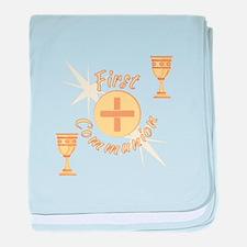 First Communion baby blanket