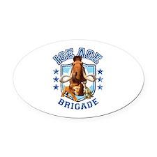 Ice Age Brigade Oval Car Magnet
