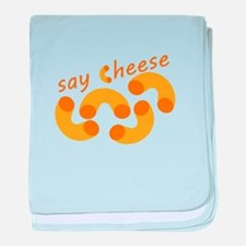 Say Cheese baby blanket