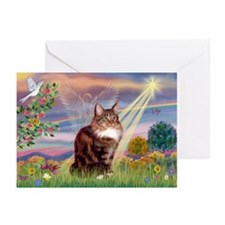 Cloud Angel & Maine Coon Greeting Cards (Pk of 20)