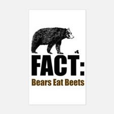 Fact: Bears eat beets Rectangle Decal