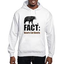 Fact: Bears eat beets Hoodie