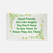 GOOD FRIENDS ARE LIKE ANGELS Rectangle Magnet
