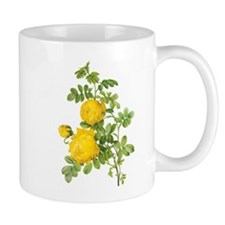 Vintage Flowers, Yellow Roses by Redoute Mugs