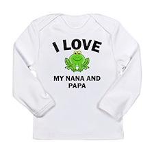 I Love My Nana And Papa Long Sleeve T-Shirt