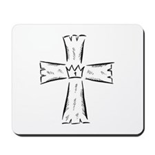 CROSS WITH CROWN Mousepad