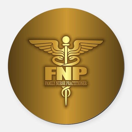 FNP (gold) Round Car Magnet