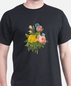 Vintage Tea Roses by Redoute T-Shirt