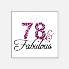 78 and Fabulous Sticker