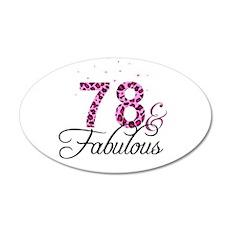 78 and Fabulous Wall Sticker