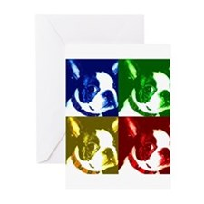 Cute Boston terrier artwork Greeting Cards (Pk of 20)