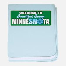 MinneSNOta Logo baby blanket