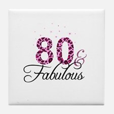 80 and Fabulous Tile Coaster