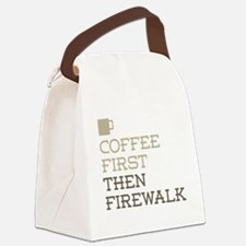 Coffee Then Firewalk Canvas Lunch Bag