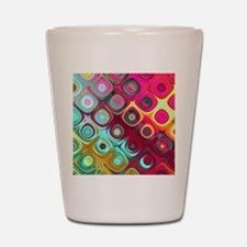 Megafunky Rainbow patterns Shot Glass