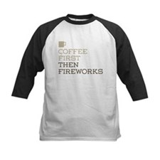 Coffee Then Fireworks Baseball Jersey